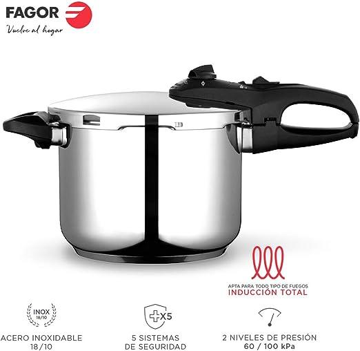 Fagor Duo Olla a presión Super rápida, Acero Inoxidable 18/10 ...