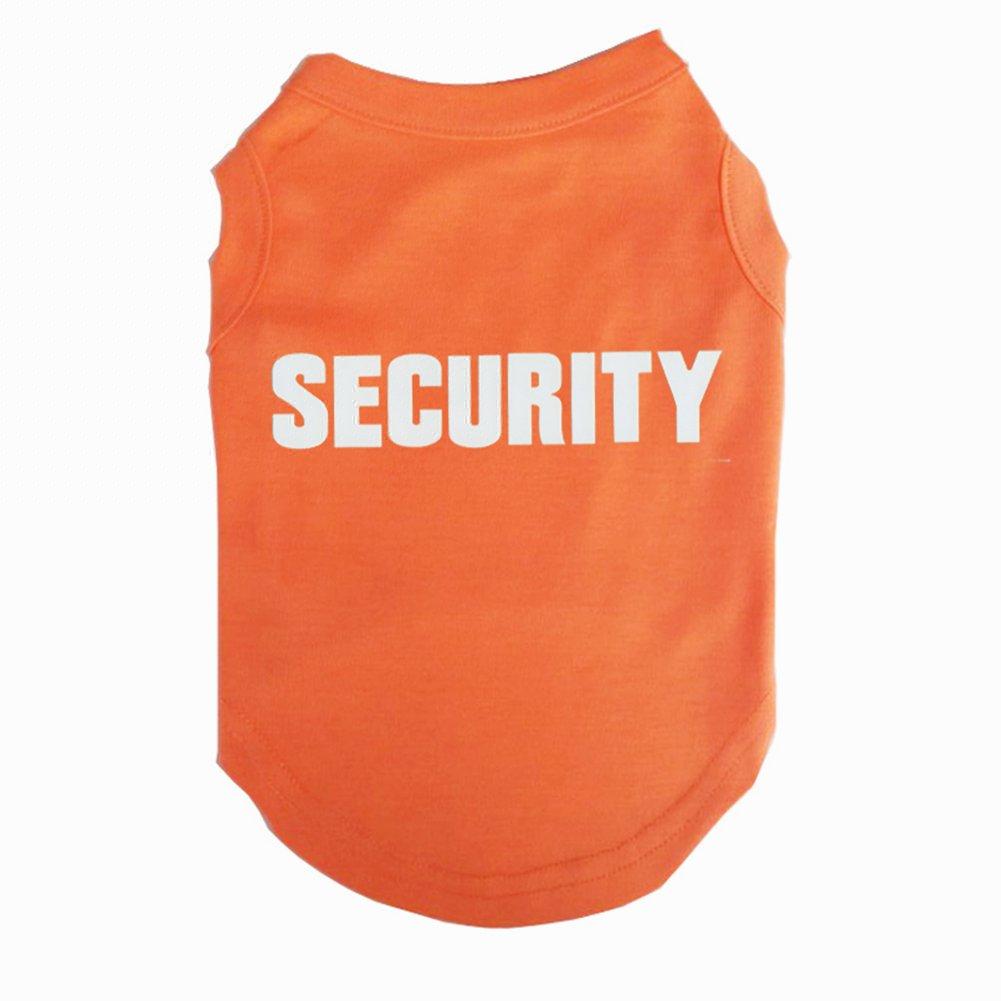 Jieya Petit Chien T-shirt pour animal domestique Motif security Imprimé pour homme Manteau Vêtements pour chiot