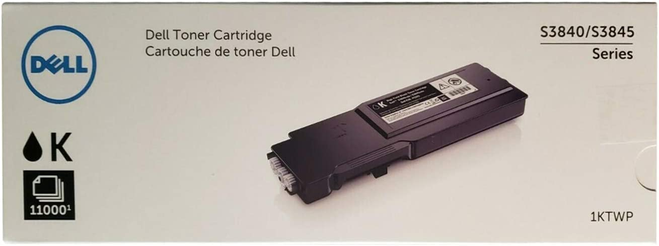 Dell 1KTWP High Yield Black Toner Cartridge for S3840cdn, S3845cdn Laser Printers