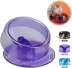 REDMINUT Cat Bowl,Cat Dog Food Bowl,Non Slip Cat Food Bowls,0-22°Adjustable Tilted Pet Feeding Bowls,Protect Pet's Spine,Suit for Cats or Small Dogs,Dishwasher Safe,Food Grade Material