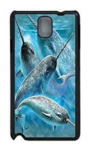 Samsung Note 3 Case,VUTTOO Stylish Narwhals Hard Case For Samsung Galaxy Note 3 / N9000 / Note3 - PC Black