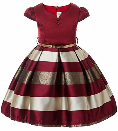 Fkkfyy Little Big Girls Princess Ball Gowns Dresses For Wedding Party Holiday  4 5 Years  Burgundy