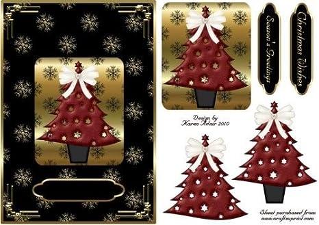Albero Di Natale Nero E Oro.Albero Di Natale In Rosso Su Nero E Oro Con Passo Dopo Passo By