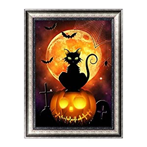 Misright Creative 5D Diamond Halloween Painting DIY Embroidery Cross Stitch Home Decor Crafts Art