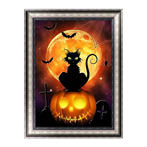 Misright Creative 5D Diamond Halloween Painting DIY Embroidery Cross Stitch Home Decor Crafts -