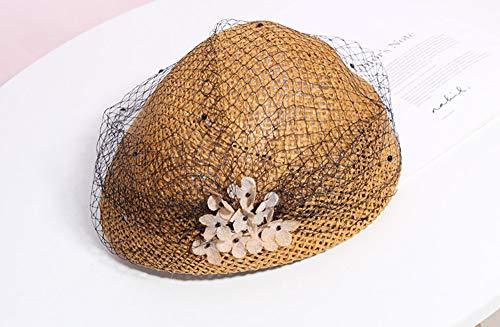 - Chlally Pure Paper Sun Hat for Women Fashion Veil Straw Casquette Hat 2019 Summer Beach Hats Vintage Paper Octagonal Cap Ladies Sun Hat