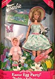 Easter Egg Party Barbie and Kelly Gift Set + Fun Easter Scene With Re-Usable Vinyl Stickers