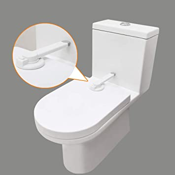 Sensational Baby Safety Toilet Locks Professional Baby Proof Toilet Lid Lock With Arm 3M Adhesive Mount Top Safety Alphanode Cool Chair Designs And Ideas Alphanodeonline