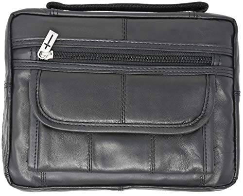 Garrison Grip Quality Genuine Premium Leather Concealed Carry Bible Cover Gun Case or Day Planner Cover Gun Case
