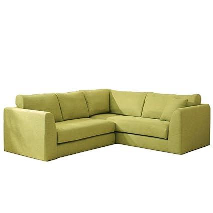 Jann L Shape Sofa In Green Colour