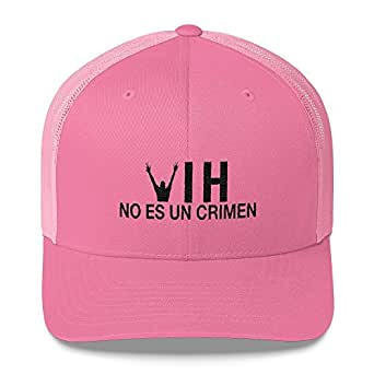 Kids and Money Today HIV is Not a Crime Spanish Hat Baseball Cap - One Size Snap Back Pink