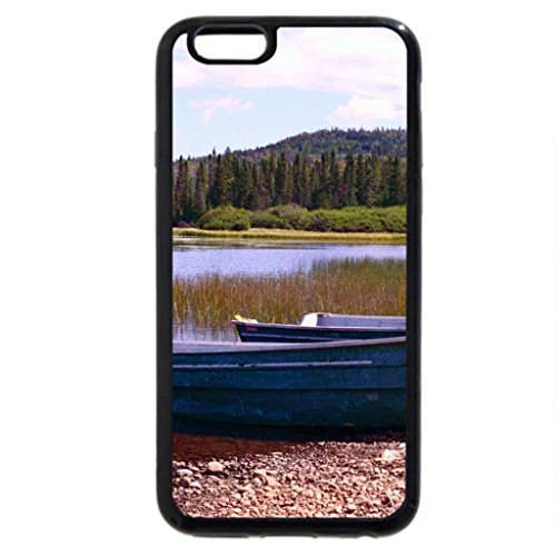 iPhone 6S / iPhone 6 Case (Black) Two Little Fishing Boats
