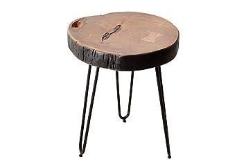 Design Table D Appoint Goa Tabouret Tronc D Arbre D Acacia