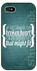 iPhone 4 / 4s My kiss can mend your broken heart - black plastic case / Music lyrics, songs, love