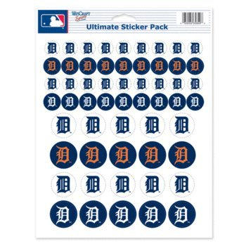 WinCraft MLB Detroit Tigers Vinyl Sticker Sheet, 8.5