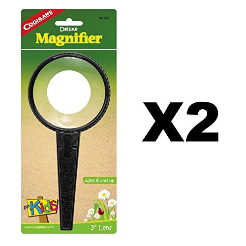 Coghlan's Deluxe Magnifier For Kids Plastic 2x Magnifying w/ 4x Lens (2-Pack) by Coghlan's