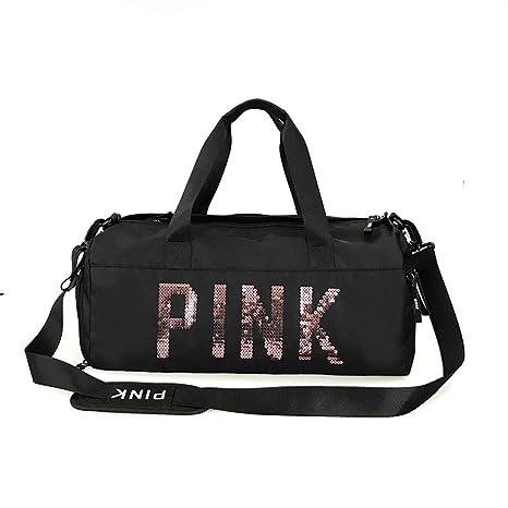 Amazon.com: SDMBHanfi New Sequins Black Gym Bag Women Shoe ...
