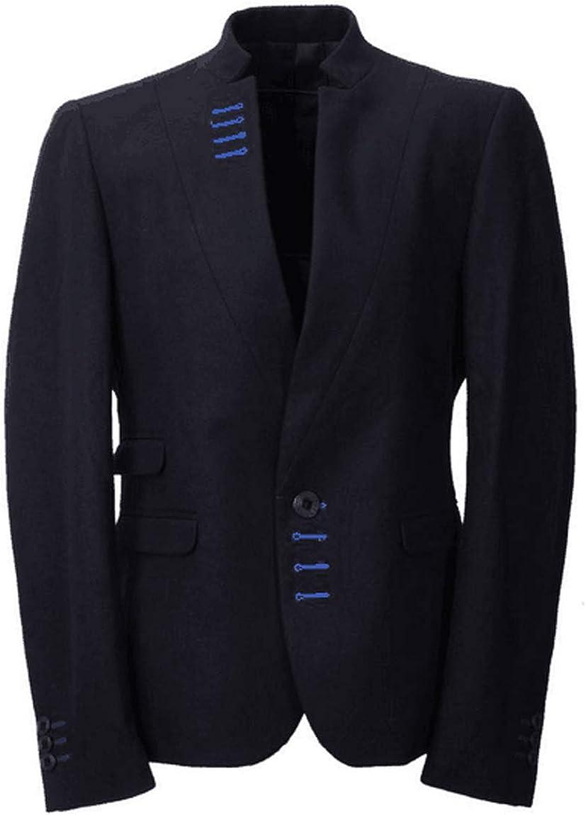 YYI Hombre Traje Blazer Cuello Alto Trajes de un botón Abrigo Chaqueta de Negocios