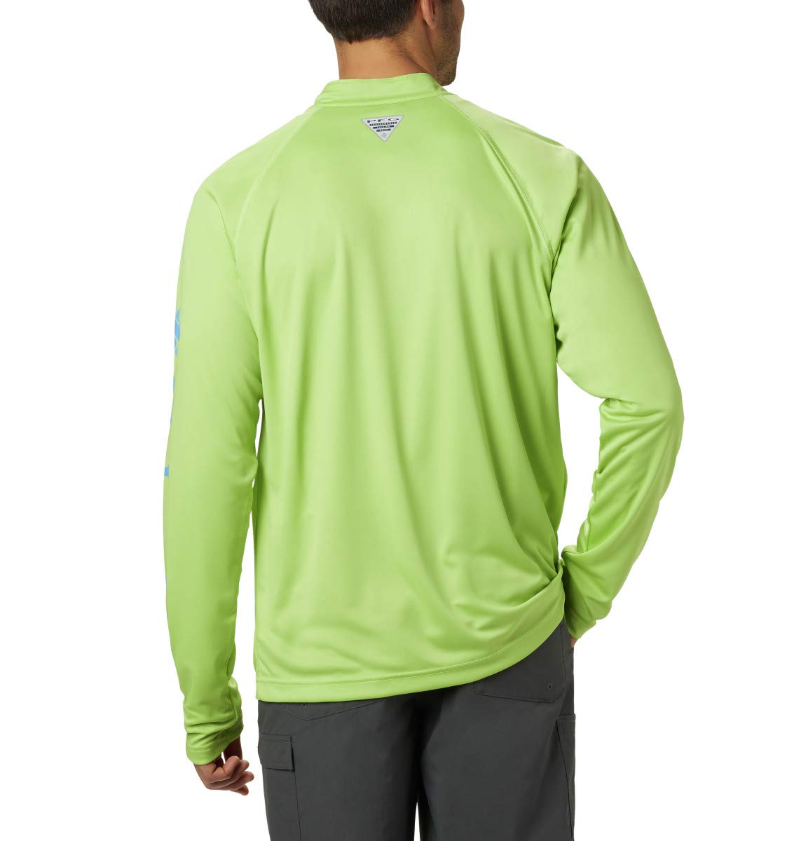 Breathable Uv Sun Protection Columbia PFG Terminal Tackle 1//4 Sleeve Zip Tee