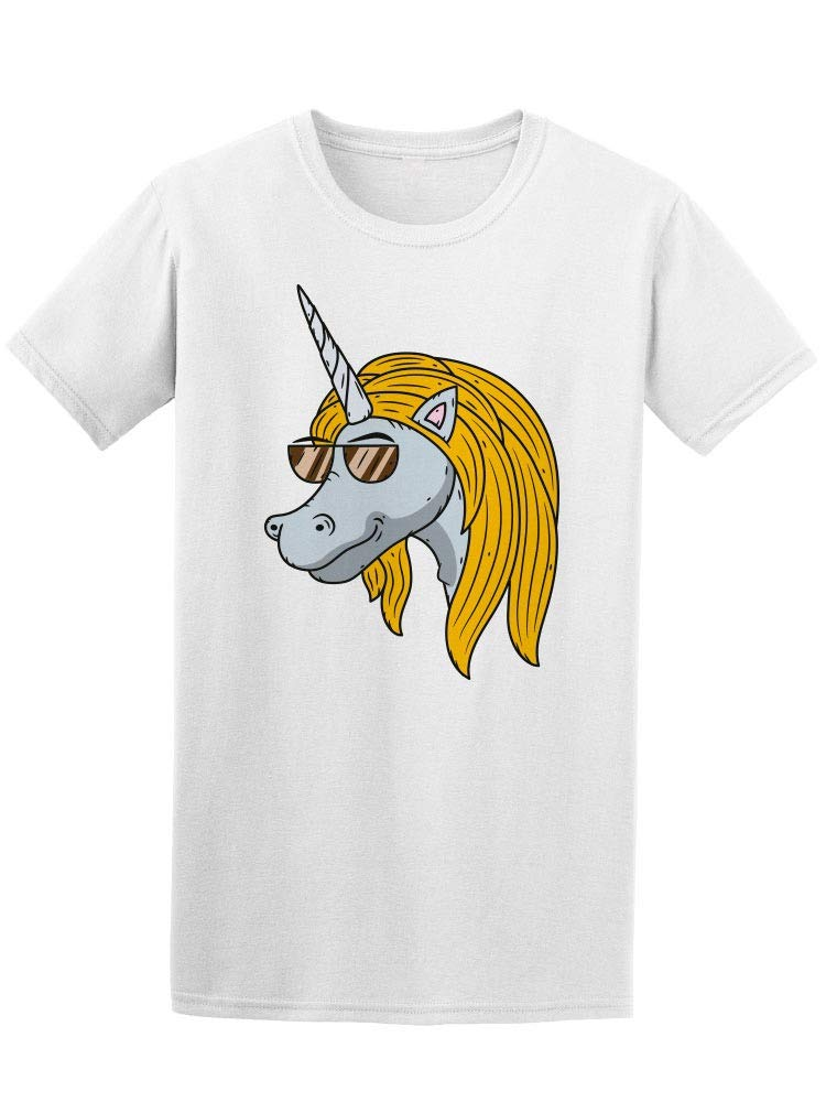 Trendy Unicorn With Sunglasses Tee Men's -Image by Shutterstock