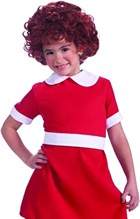 Forum Novelties Girls Little Orphan Annie Child Costume Red Dress Size Small 4-6