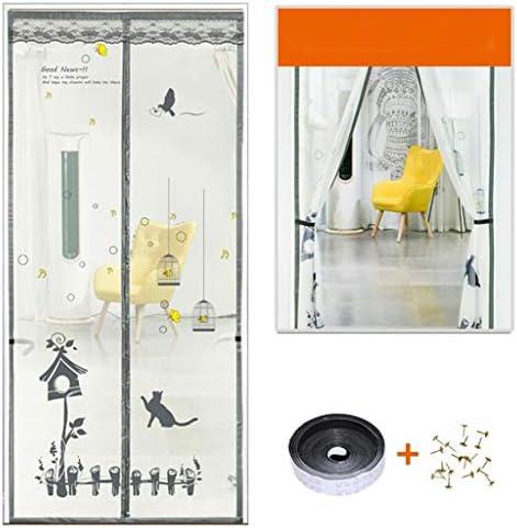 防蚊ドアカーテン、磁気ドアガーゼ、ドア防蚊ハンズフリー装置をメッシュ、カーテンが入るの昆虫や蚊を防ぐことができますメッシュ、複数のサイズオプション (Color : E, Size : 80*210CM)
