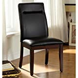 Furniture of America Lyzandrie Contemporary Leatherette Dining Chair (Set of 2)