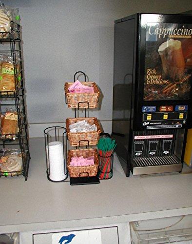 3-Tier 3 Rectangular Willow Basket Counter Display Rack by Mobile Merchandisers (Image #4)
