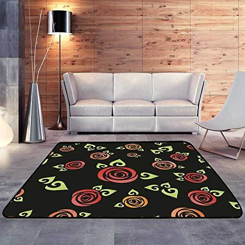 Carpet mat,Roses patternW 78.7