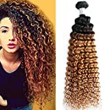 8A Ombre Brazilian Deep Wave virgin hair weave ONE bundle Wet And Wavy Brazilian Hair Water Wave deep curly weave Human Hair 1B30(16) Review