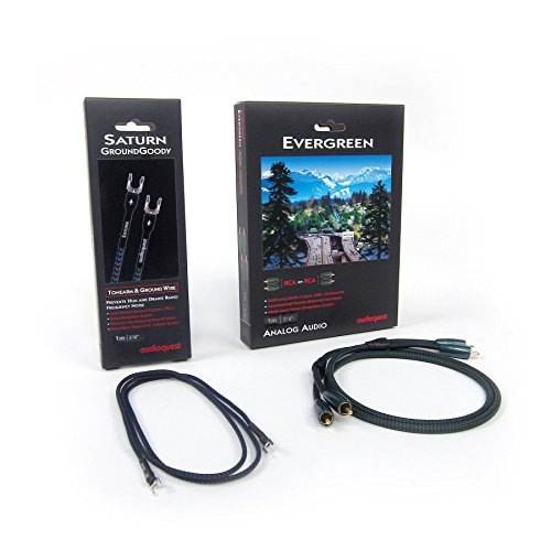 Audioquest: Evergreen RCA + Saturn Groundwire 1.0M Pack for