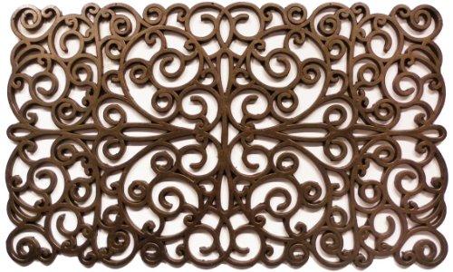 (Calloway Mills 900031830 Bronze Scroll Rubber Doormat, 18
