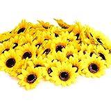 KINWELL Artificial Silk Sunflower Floral Decor