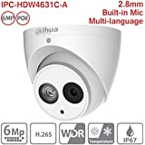 Hansen Dahua IP Camera 6MP IPC-HDW4631C-A 2.8mm POE Mini Turret Dome Network Camera ONVIF Built-in Mic Full HD 1080P IP67 Secuity Camera