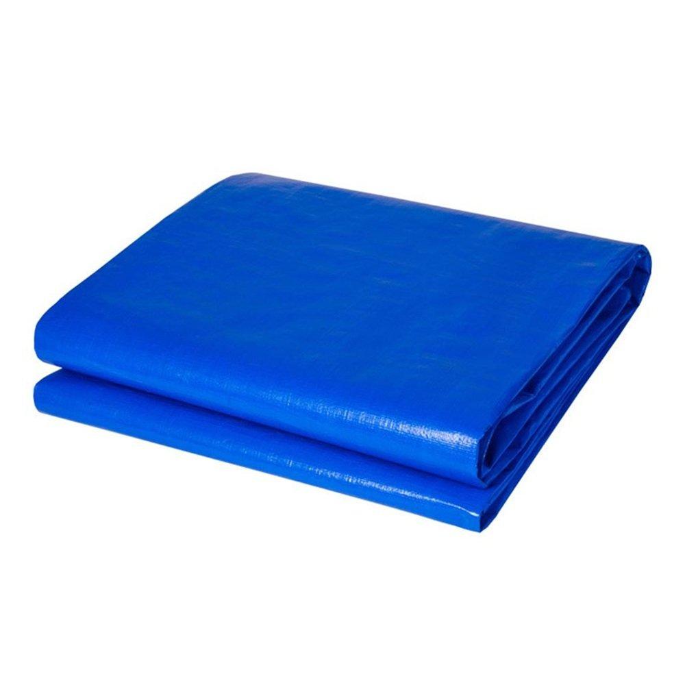 テントの防水シート タープカバー厚い厚手の素材、防水、ターポリンキャノピーテント、ボート、RVまたはプールカバーに最適-0.35mm 180g/m² それは広く使用されています (色 : 青, サイズ さいず : 5 x 7m) B07DMWVWXX 5x 7m|青 青 5x 7m