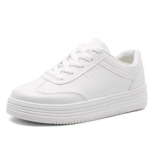 812d4cc764e10 Femmes Appartements Plates-Formes causales Baskets Chaussures à Lacets  vulcanisés Chaussures de Mode Espadrilles Chaussures de Sport de Marche   Amazon.fr  ...