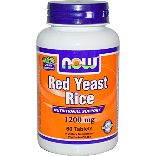Now Foods Red Yeast Rice 1200 mg - 60 Tablets
