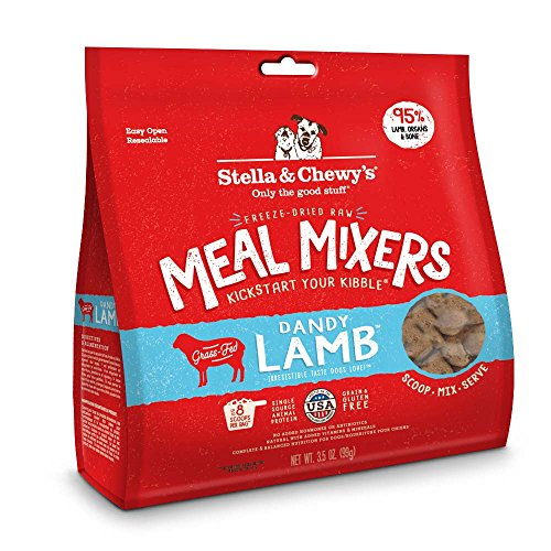 Stella & Chewy's Freeze-Dried Raw Dandy Lamb Meal Mixers Grain-Free Dog Food Topper, 18 oz Bag by Stella & Chewy's