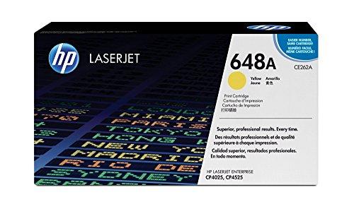 HP 648A (CE262A) Yellow Toner Cartridge for HP Color LaserJet Enterprise CP4025 CP4525 - Yellow 648a Cartridge