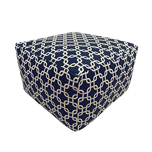 Majestic Home Goods Navy Blue Links Ottoman, Large Review