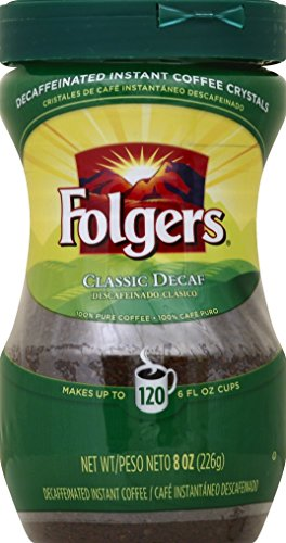 Folgers Instant Coffee, Classic Decaf, 8 Ounce