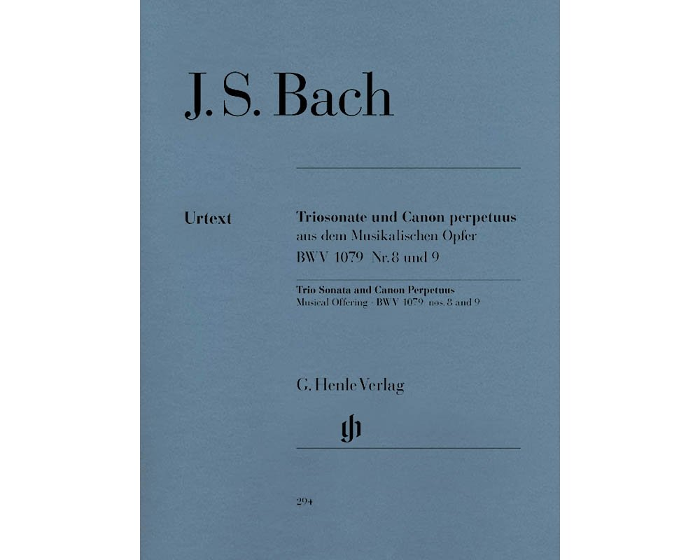 G. Henle Verlag Trio Sonata and Canon Perpetuus from the Musical Offering BWV 1079 Henle Music Softcover by Bach PDF