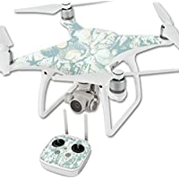 Skin For DJI Phantom 4 Quadcopter Drone – Blue Seashells | MightySkins Protective, Durable, and Unique Vinyl Decal wrap cover | Easy To Apply, Remove, and Change Styles | Made in the USA