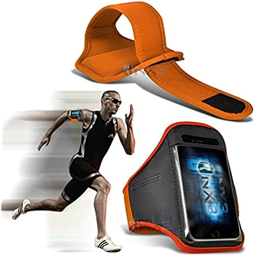 ONX3 Samsung Galaxy S8 Case (Orange) Case Cover Adjustable Fitness Running Jogging Cycling Gym Armband Holder Sales