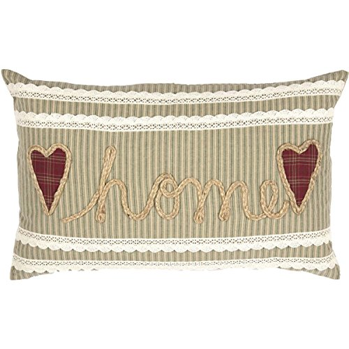 VHC Brands Sage Green Farmhouse Classic Country Decor Prairie Winds Home 14x22 Pillow