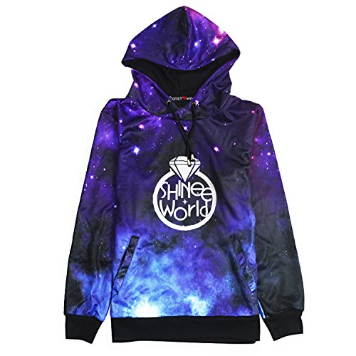 Fanstown Kpop Starry Sky Pullover Hoodie With lomo Cards