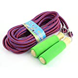 haoun Wooden Handle Long Group Skipping Rope Jumping Ropes for Gym School Games 7m