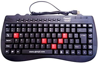 QUANTUM QHM7309 Wired Mini Keyboard  Black  Keyboards