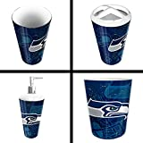 The Northwest Company Seattle Seahawks NFL 4 Piece Bathroom Decorative Set (Scatter Series)