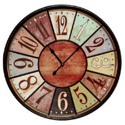 Amazon Jumbo Tuscan Wooden Number Wall Clock By VIP International Home Kitchen